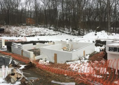 house build using Insulated concrete forms